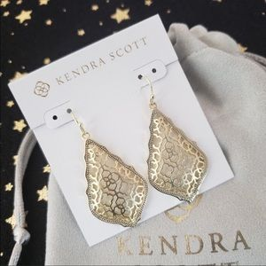 NWT Kendra Scott Addie Gold Drop Earrings